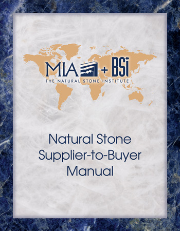 Natural Stone Supplier-to-Buyer Manual